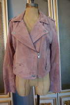 Pre-owned SL8 by Blank NYC Blush Suede Moto Jacket Medium MSRP $198