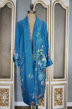 frf Collection By Zara Beautiful Kimono Blue Floral Medium