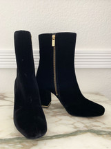 Pre-owned Michael Kors Ursula Velvet Ankle Booties Black size 9