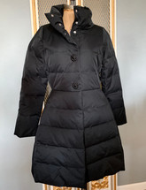 Kate Spade Jewel Button Puffer Down Coat Bow Back Jacket Black MSRP $750