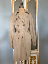 Pre-owned J.Crew  Washed Cotton Trenched Coat Khaki Sz 6 E8023
