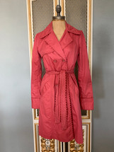 Pre-owned Anthropologie Sitwell Trench Coat Red-Small