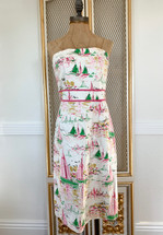 J. Crew Sailboat Strapless Dress Size 10