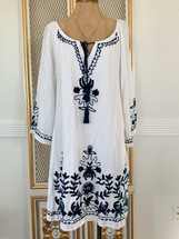 CC Chic Collection Embroidered Cotton Pesant Dress XL