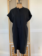 Pre-owned Larry Levine Pullover T-Shirt Dress Black-M
