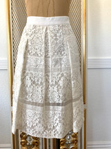 Pre-owned Rebecca Taylor Lined Lace Skirt-8