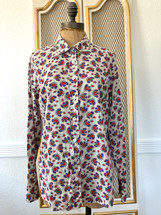 Pre-owned J. CREW papaya paisley printed perfect shirt 6