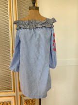 Pre-owned Romeo + Juliet Stripped Off The Shoulder Dress (S)