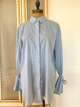 Pre-owned Treasure & Bond Stripped Button-down Wrist Tie Shirt (S)