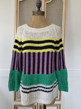 Pre-owned J.Crew Collection Mixed-Stripe Sweater (S)