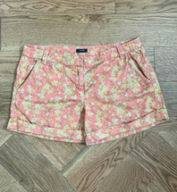 Pre-owned J.Crew Cotton Washed Floral River Shorts Size 8 Khaki Print #25809