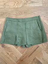Pre-owned J.Crew Linen Crossover Shorts in Olive (6)