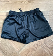 Pre-owned Socialite Cuffed Satin Slip Shorts Black (M)