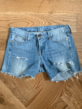 Pre-owned J.Crew Light Wash Denim Cut-off Style (28) Shorts