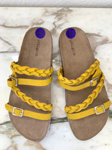 Indigo rd. Suade Slide Sandals  Mustard Yellow (8.5)