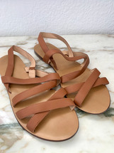 Pre-owned J.Crew Leather Strappy Sandals (9)