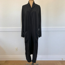 Pre-owned Leith Draped Open Front Duster Black S