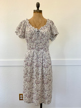 Pre-owned J.Crew Tall Puff-sleeve Peasant Mini Dress In Soft Rayon (8T)