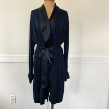 Pre-owned Midnight Rayon Short Robe Navy Small