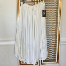 Vince Camuto Pleat Midi Skirt New Ivory (S)