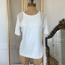 Pre-owned Ten Sixty Sherman Stretch Blouse Ivory Large
