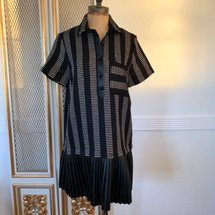 Zara Textured Weave Black Dress Medium