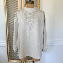 Zara EMBROIDERED BLOUSE XS