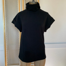 Pre-owned Philosophy Short Sleeve High Neck Top Black (XS)