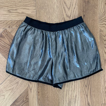 Pre-owned BCBG Dressy Metallic Shimmer Disco Shorts (S)
