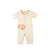 Eotton Certified Organic Cotton Beige Baby Romper