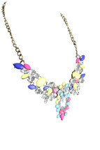 Girls & Queens Crystal Jewelry Statement Vintage Bib Necklace