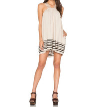 Free People Structured Cotton Batiste Kashmir Tent Dress