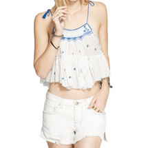 Free People  Magic Power Crinkly Cotton Tank