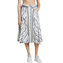 Free People Boardwalk Babe Linen Blend Skirt
