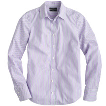 J CREW PERFECT SHIRT IN LILAC STRIPE