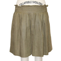 J.Crew Womens Army Linen Short Ruffled A-line Mini Skirt Size 6
