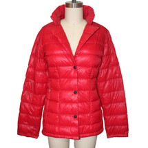 Calvin Klein Packable Lightweight Premium Down Red Jacket Size: 6 (S)