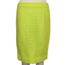 J.CREW No. 2 Pencil In Circle Eyelet -Citron Sold Out Skirt (2)
