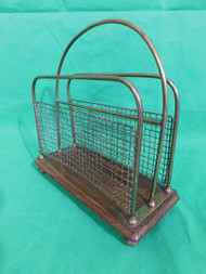 ANTIQUE WIREWORK MAGAZINE OR LETTER RACK