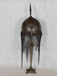 A GENUINE ANTIQUE KULAH KHUD HELMET - NOW SOLD