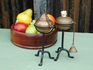 PAIR OF VINTAGE ARTS & CRAFTS STYLED CANDLESTICK BURNERS