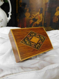 ANTIQUE BEAUTIFULLY INLAID DESK TOP OR JEWELLERY BOX