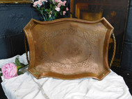 ANTIQUE COPPER TRAY in the ARTS & CRAFTS MANNER