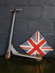 EARLY BESPOKE ANTIQUE FOLK ART SCOOTER-IDEAL WALL ART