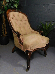 ANTIQUE COUNTRY HOUSE PARLOUR CHAIR