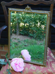 A CHARMING LARGE ANTIQUE DRESSING TABLE MIRROR