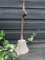 EARLY ANTIQUE CAST METAL HANGING BELL