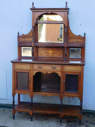 ANTIQUE INLAID ROSEWOOD SIDE CABINET