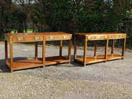 A PAIR OF MILITARY CAMPAIGN STYLE TABLES - NOW SOLD