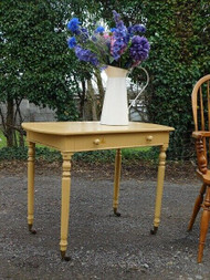 A CHARMING VICTORIAN PAINTED SCULLERY SIDE TABLE
